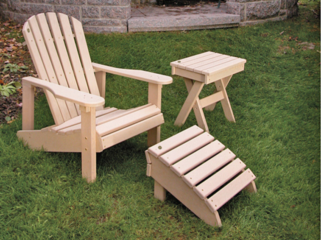 Chaise longue avec roues s rie adirondack tessier rp for Chaise adirondack plan